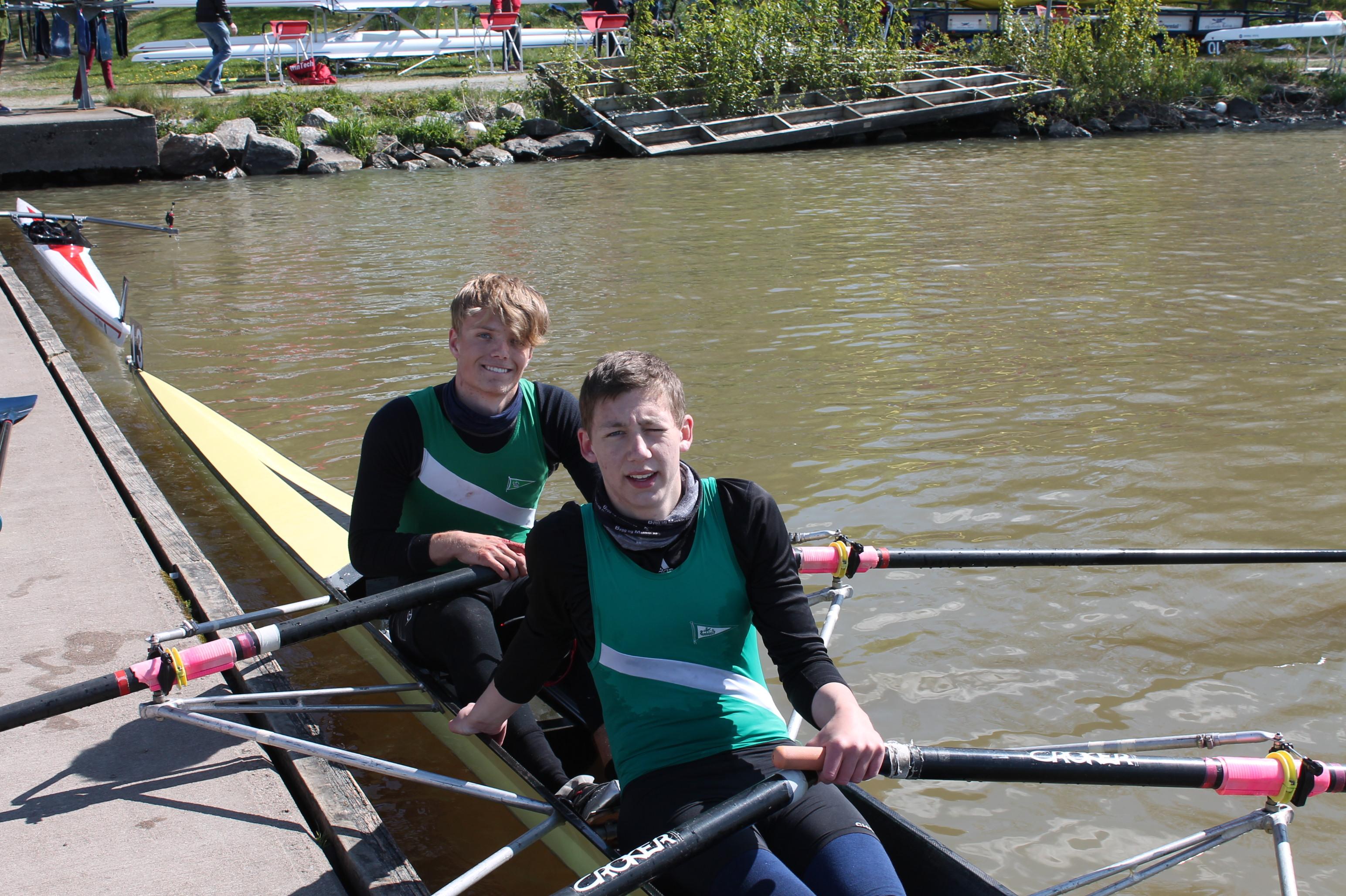 Klubbens beste juniorbåt, Gustav og Nicolay.